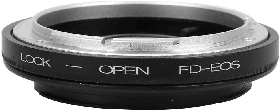 Delaman Lens Adapter Portable Metal Lens Mount Adapter Ring for Canon FD Lens to for Canon EOS Camera with Glass Adapter