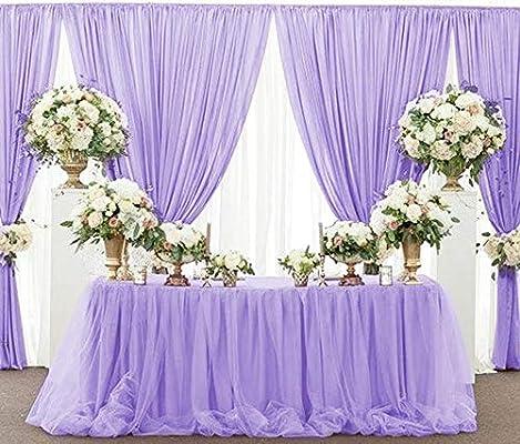 QueenDream falda de mesa L9 (ft) H 30 in rosa falda de mesa ...