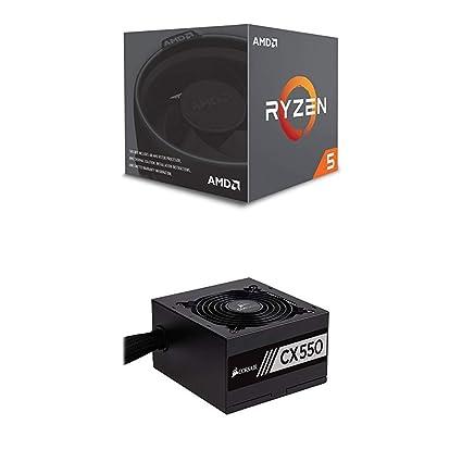 Amazon com: AMD Ryzen 5 2600 Processor with Wraith Stealth
