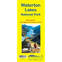 Waterton Lakes Waterproof Trail Map and Guide