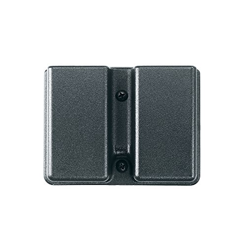 Magazine Case Belt - Uncle Mike's Kydex Off-Duty and Concealment Accessory Double Stack Double Mag Case (Black) with Belt Loop