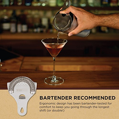 Hawthorne Cocktail Strainer - Stainless Steel Strainer for Professional Bartenders and Mixologists by Top Self Bar Supply by Top Shelf Bar Supply (Image #7)