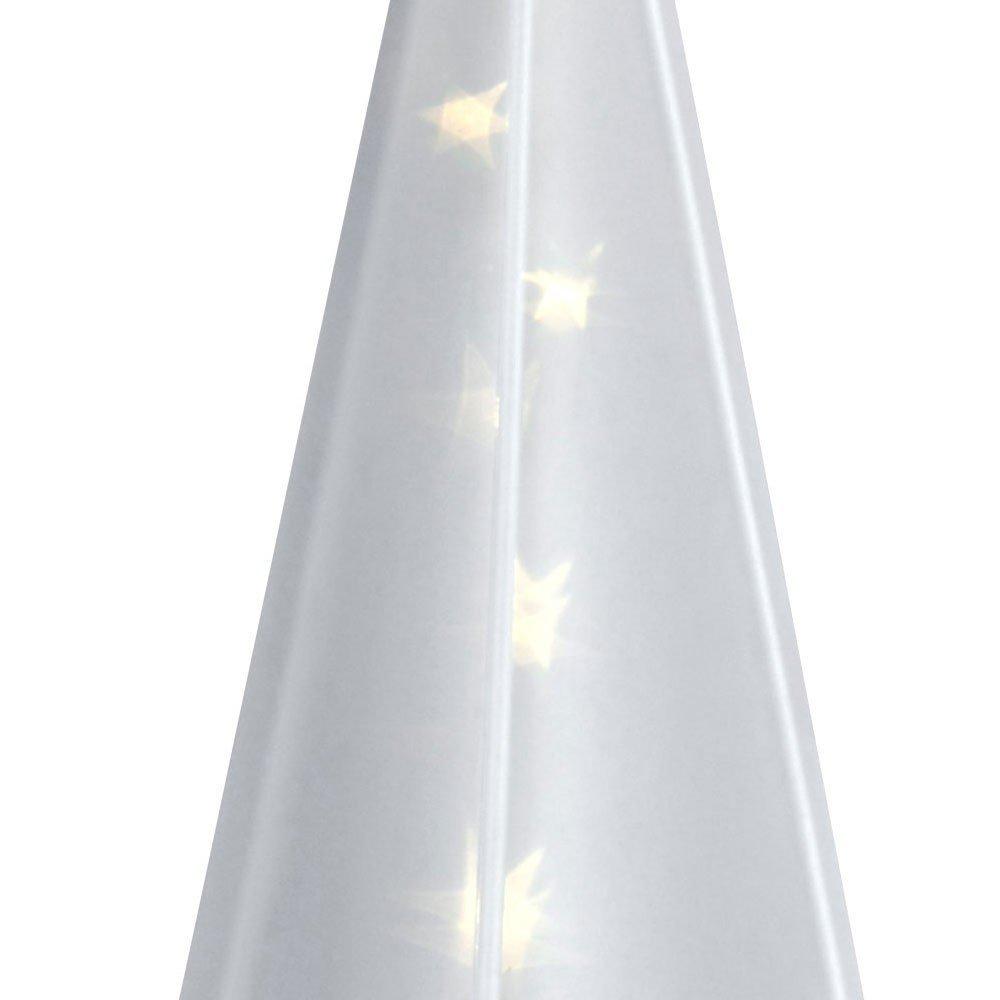 Leucht-Pyramide mit Sternen-Hologramm 45 cm