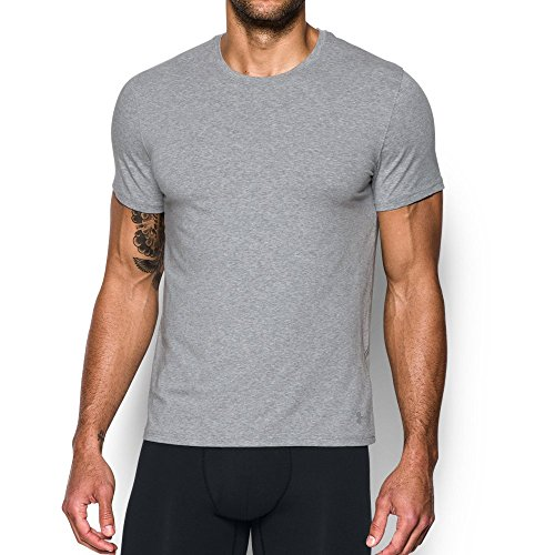 Under Armour Charged Cotton Crew Undershirt - 2-Pack SM True Gray Heather