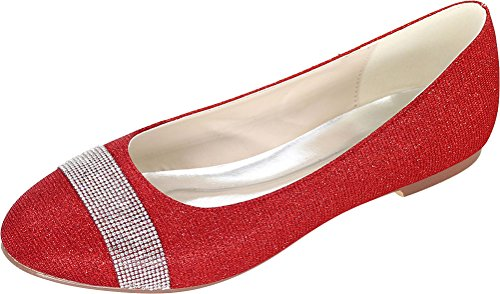 Find Red Compensées Femme Nice 5 Sandales Rouge 36 vvP4RH