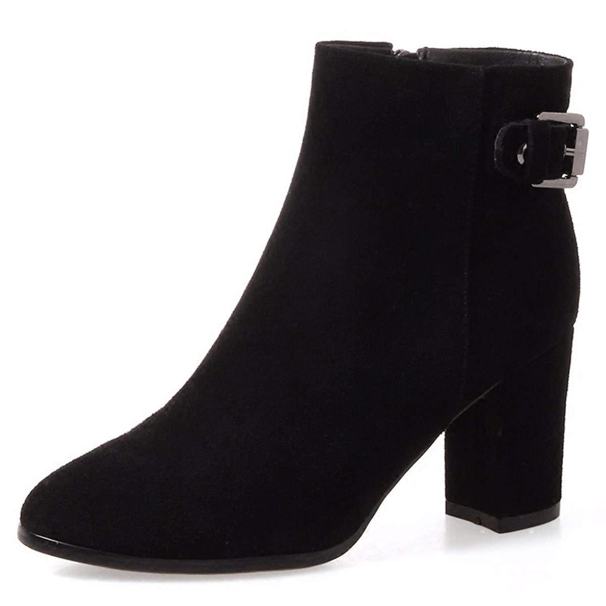 HBDLH Damenschuhe Herbst Stiefel, Meine Damen, An Stiefeln, Dicken Sohle Stiefel, Einzelne Schuhe, Herbst - Winter - Stiefel, 7Cm