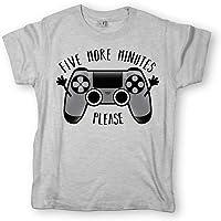 Pampling Camiseta niño Play Five More Minutes Videojuego - 100% Algodón - Serigrafía