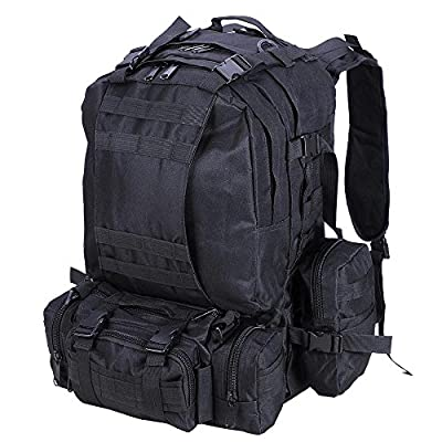 "AW 55L Camping Bag 23x19x5.5"" Oxford Nylon Backpack Travel Hike Climb Military Tactical"