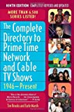 img - for The Complete Directory to Prime Time Network and Cable TV Shows, 1946-Present book / textbook / text book