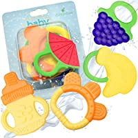 Baby Teething Toys - BPA Free Natural Organic Freezer Safe Teether Set for 3 ...