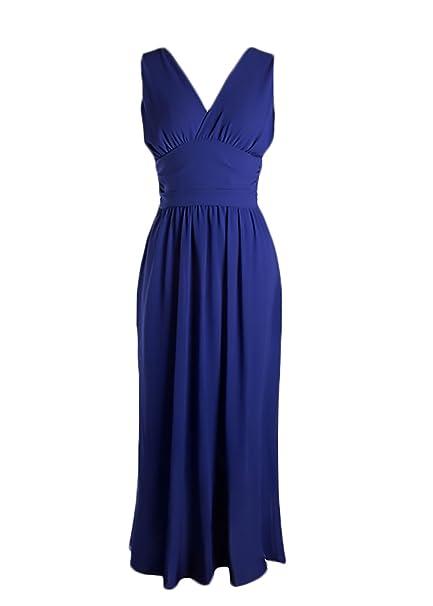 528d6c279a Vestiti Donna Estivi Eleganti Lungo Chiffon Abiti da Cerimonia Senza ...