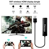 DONWELL 5G Wireless WiFi Display Dongle Portable Projector Mirroring Screen Airplay/DLNA/Miracast/Chromecast for iPhone iPad IOS/Android/Mac OS/Win 8.1+ to TV HDMI Full HD 1080P