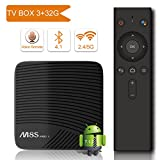 YAGALA M8S Pro L Android 7.1.2 Tv Box With Bluetooth Voice Remote Ultra 4K HD Smart TV Box 3GB RAM 32GB ROM Bluetooth 4.1 Amlogic S912 Octa core 64 Bits and Support Dual Band WiFi 2.4GHz/5GHz H.265