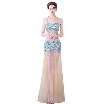 DROHE-Q Vestido de Noche Atractivo, Vestido Transparente de la ...