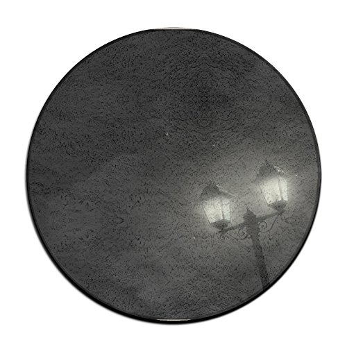 Yo Ou Round Area Rug Night Light Casual Anti-skid Runner Floor Rug Bath Door Mat Rug Pads 23.6