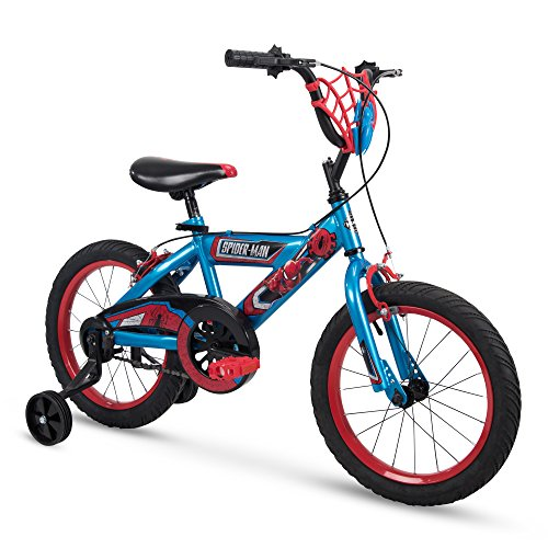 "Huffy Bicycle Company 16"" Marvel Spider-Man Boys Bike by Huffy, Web Plaque, Blue"
