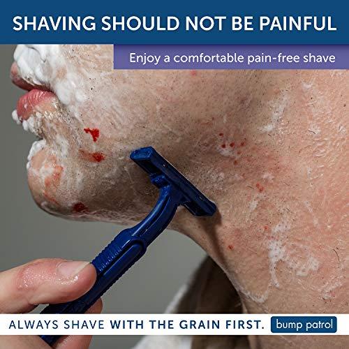 Bump Patrol Cool Shave Gel - Sensitive Clear Shaving Gel With Menthol Prevents Razor Burn, Bumps, Ingrown Hair - 4 Ounces by Bump Patrol (Image #5)