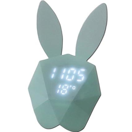 LED Digital reloj despertador con acústica Noctilucent fuerte magnético adsorción, circuito de carga de batería