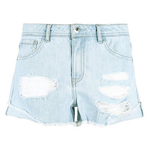 QI FANG BUSINE Femme Femme Sexy trous shorts t Denim shorts (Size : 160/64A/SR)