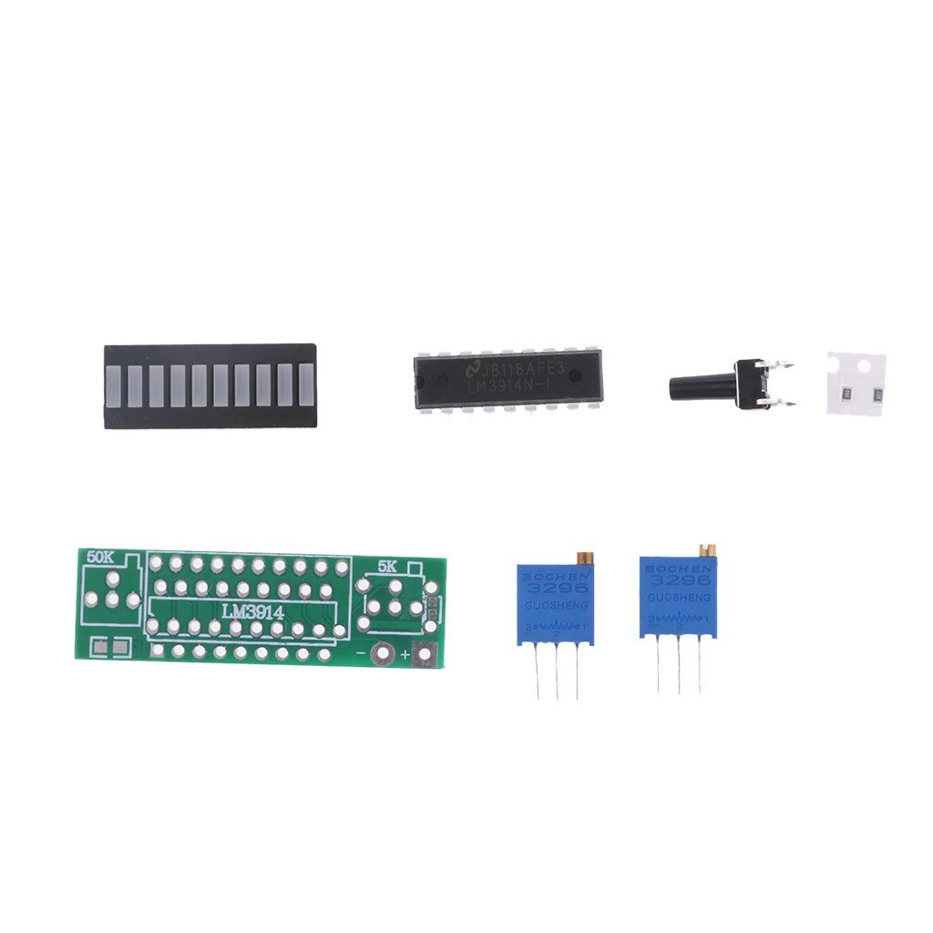 D Dolity Lm3914 10 Led Voltage Regulator Diy Kits Basic Circuit For Electronics