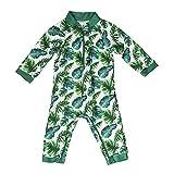 Honeysuckle Swim Company Unisex Baby Swimsuit - Certified UPF 50+ - Easy Inseam Diaper Zipper