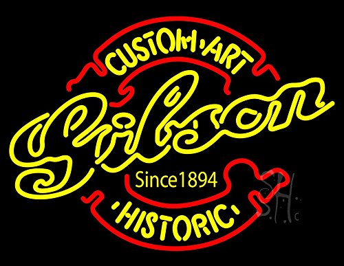 The Sign Store N100-5118-clear Gibson Guitar Custom Art Historic Clear Backing Neon Sign44; 24 x 31 in. (Gibson Custom Historic)