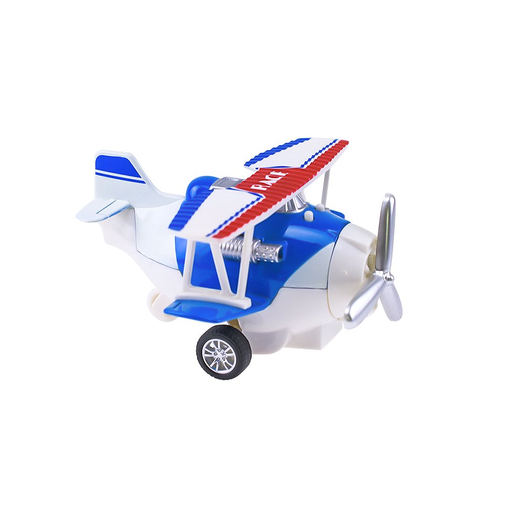 HSOMiD Pull Back Vehicle for Toddler Mini Airplanes Pull Back and Go Car Plane Toy Fun Travel Toys Blue