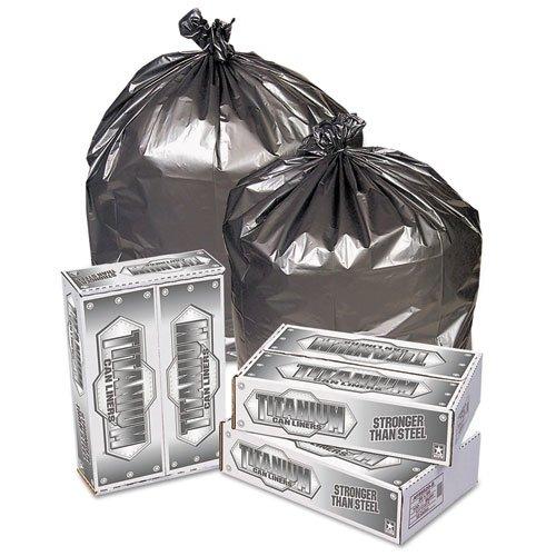 - Pitt Plastics TI3957S Titanium Low-Density Can Liners, 55-60 gal, 1.7 mil, 39 x 57, Silver (Case of 50)