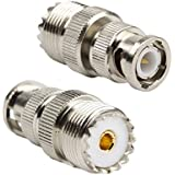 DHT Electronics 2pcs RF coaxial coax adapter BNC male to UHF female SO-239 SO239