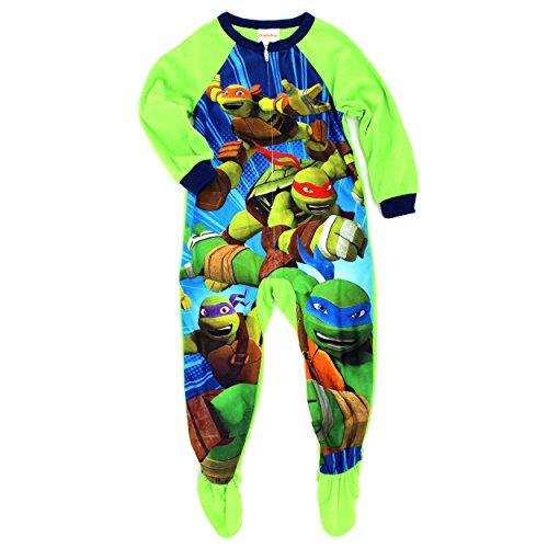 a9ebd956b4 Nickelodeon Teenage Mutant Ninja Turtles Boys Fleece Blanket Sleeper Footed  Pajamas