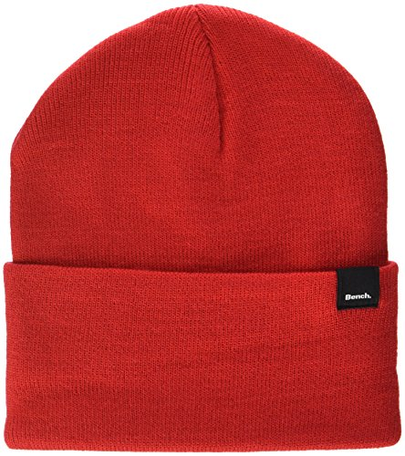 Rd012 Rojo Bench de Turn Up Adulto Unisex Core Punto Red Beanie Gorro 1wPP6ag