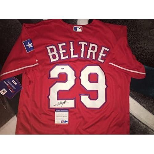 big sale 5beb4 1aba8 Signed Adrian Beltre Jersey - Star HOF #2 - PSA/DNA ...