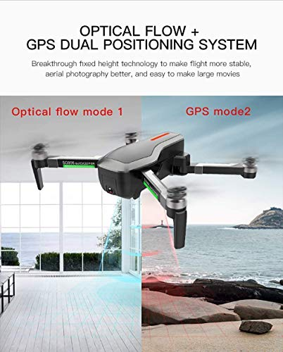 RC Drone with 4K HD Dual Camera,Rabing Optical GPS Flowing Interest, Encircling Brushless Foldable 5G FPV WiFi RC Quadcopter with Camera Gesture Photo Video Powerful Battery Multifunctional Drone