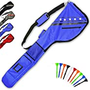 Golf Club Carry Sunday Bag Driving Range Practice Bag Thick Waterproof Lightweight Foldable with Free 60Pack B