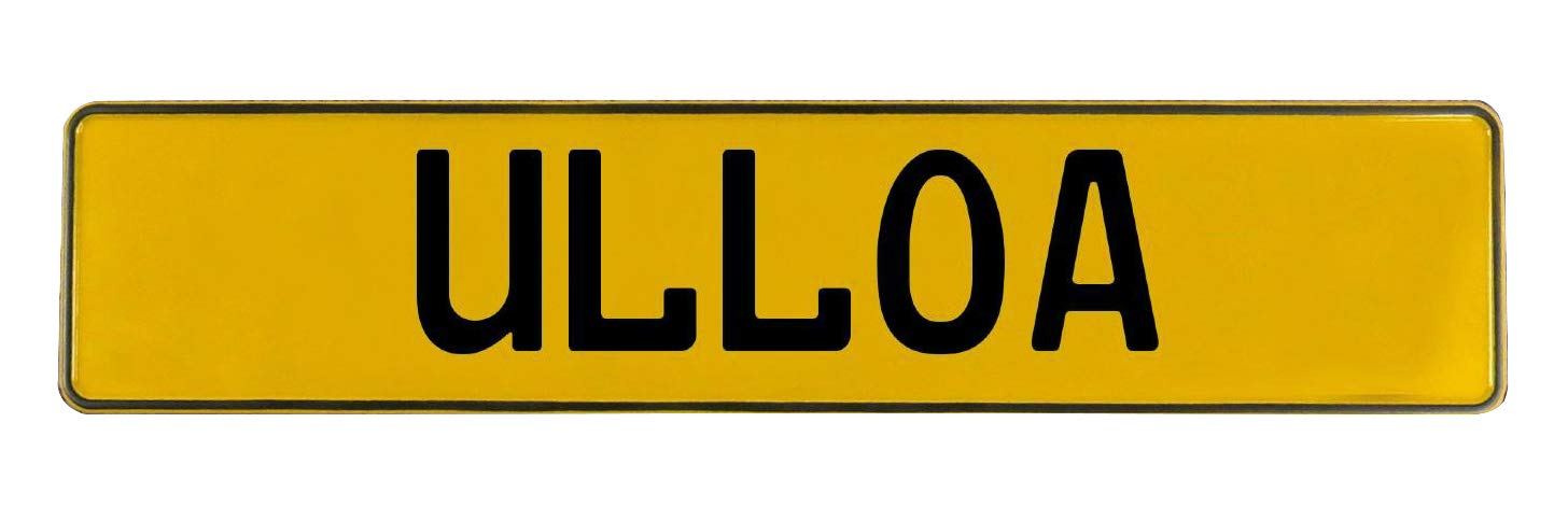 Ulloa Yellow Stamped Aluminum Street Sign Mancave Vintage Parts 772722 Wall Art