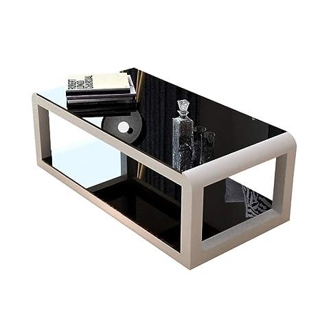 Amazon.com: Mesa de café para salón de cristal mesa de té ...