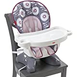Fisher-Price SpaceSaver High Chair, Pink/Grey Floral