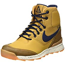 NIKE KIDS STASIS ACG GS BOOTS HAYSTACK MID NAVY SAIL GUM YELLOW 685610 700