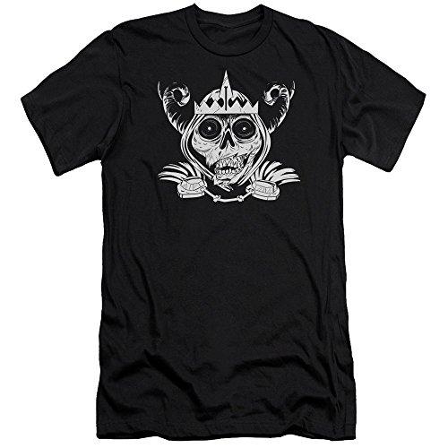 Black hombre Skull para Adventure Time Camiseta ajustada YCnaq7
