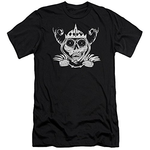 Shirt Fit Time T Black Adventure da uomo Slim Skull YP4wxE