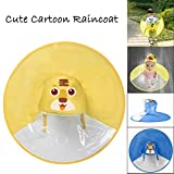 Cute Rain Coat UFO Children Umbrella Hat Magical