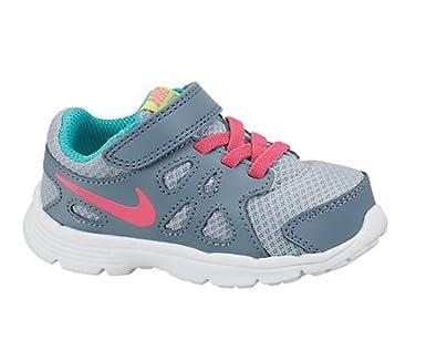 143e92bbc19dd Nike Kids Revolution 2 Infant Girls Trainers Grey Pink UK C8 (25.5)   Amazon.co.uk  Shoes   Bags