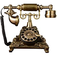 Binglinghua Retro Vintage Old Antique Style Rotary Dial Home Decor Desk Telephone Phone