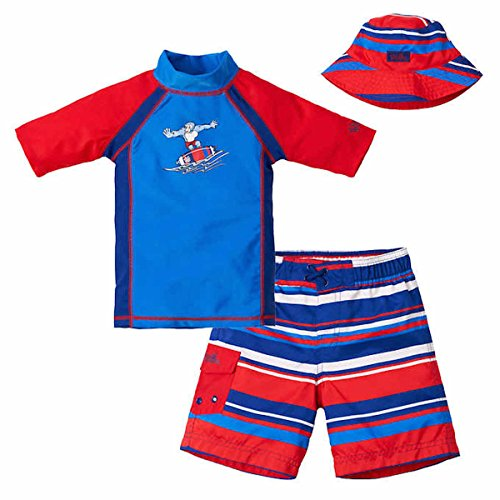 Uv Skinz Boys' 3-piece Swim Set, UPF 50+ Sun Protection