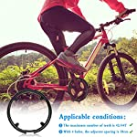 HUAYUE-2-Pezzi-Paracatena-per-Bicicletta-in-Plastica-Protezione-per-Ruota-della-Catena-per-Copricatena-per-42T-44T-Mountain-BikeBicicletta-da-StradaBicicletta-Pieghevole-con-8-Viti