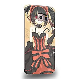 Case88 Premium Designs Date A Live Kurumi Tokisaki 1499 Protective Snap-on Hard Back Case Cover for Samsung Galaxy S6 Edge (Not Normal S6 !)