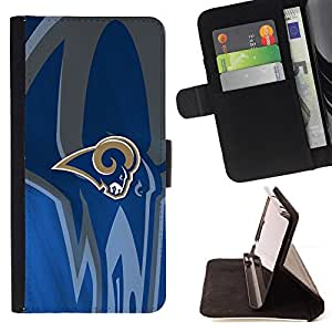 For Sony Xperia m55w Z3 Compact Mini Ram Sports Team Leather Foilo Wallet Cover Case with Magnetic Closure
