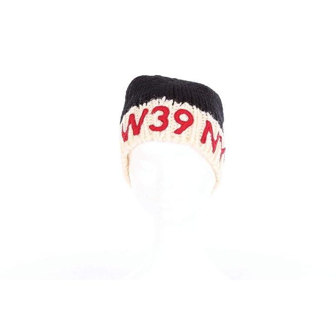 new styles fe15f cf04b Calvin Klein 83WKAA09K340 Cappello Donna Nero e panna UNI ...