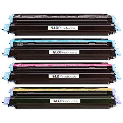 LD Remanufactured Replacement Laser Toner Cartridges for HP Color LaserJet 1600/2600: 1 Black Q6000A, 1 Cyan Q6001A, 1 Magenta Q6003A and 1 Yellow Q6002A
