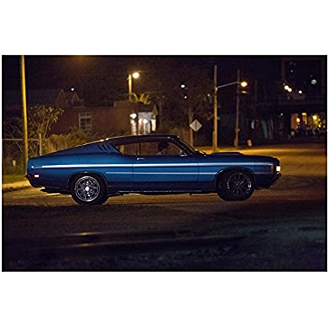 Need For Speed Blue Muscle Car At Night 8 X 10 Inch Photo At